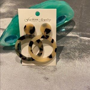 Leopard Gorgeous Acrylic earrings